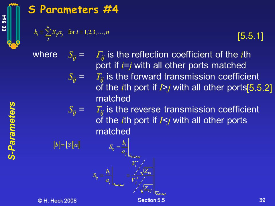 S Parameters #4 [5.5.1] where.